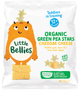 Green Pea Stars Cheddar Cheese